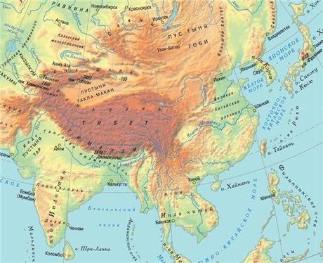Гималаи на карте фото