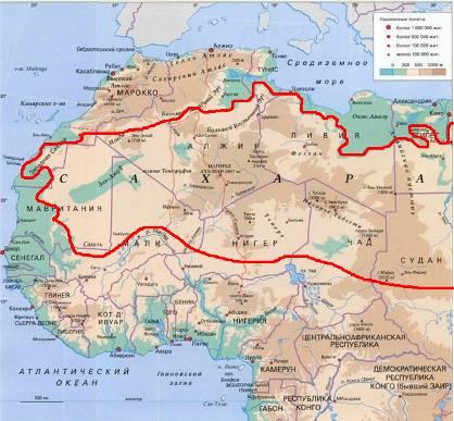пустыня Сахара на фото