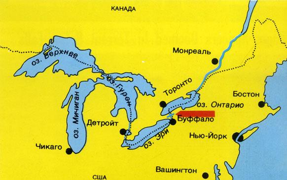 Озеро Онтарио на карте фото